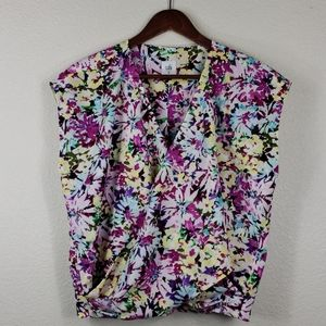 CAbi Eden Wrap Blouse size medium